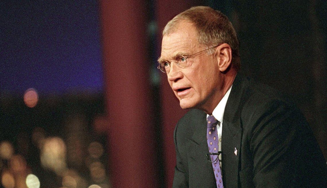 David Letterman during the opening of the Late Show with David Letterman on Monday, September 17, 2001