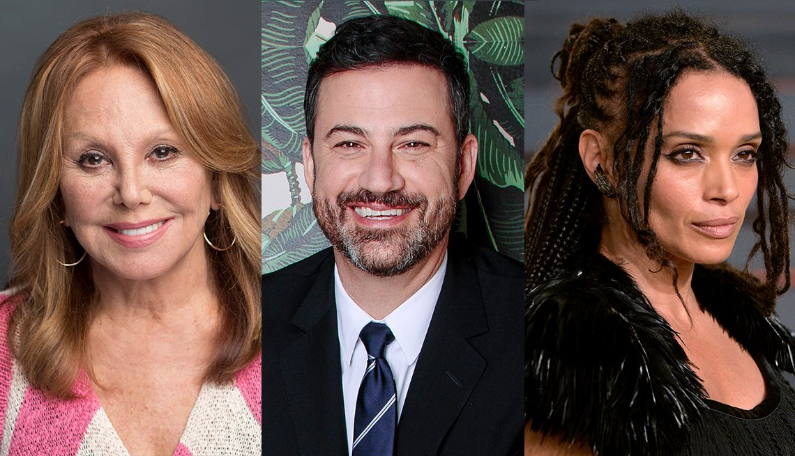 Marlo Thomas, Jimmy Kimmel and Lisa Bonet