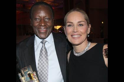 AARP The Magazine's 11th Annual Movies For Grownups Awards - Sharon Stone and Oliver Litondo