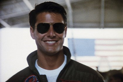 Tom Cruise in Top Gun, 50 years old