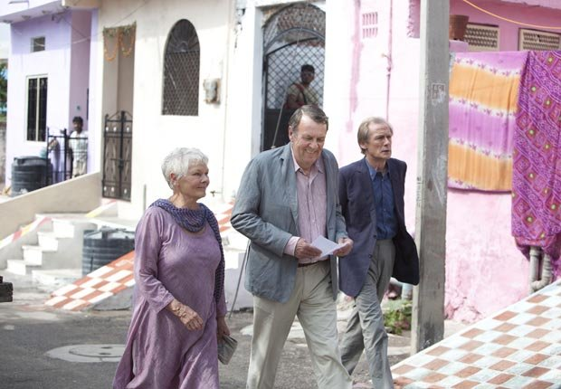 Judi Dench, Tom Wilkinson and Bill Nighy in The Best Exotic Marigold Hotel