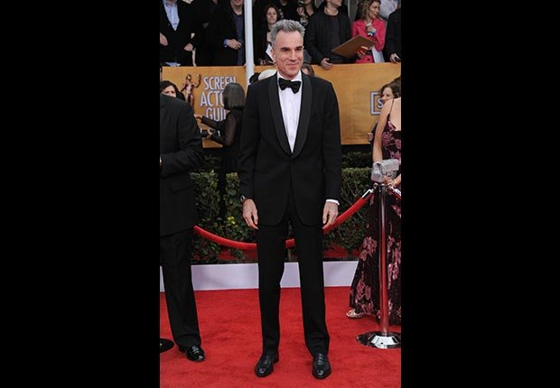 Daniel Day-Lewis on red carpet at Screen Actors Guild Awards 2013