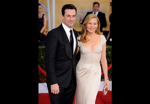 Jon Hamm and Jennifer Westfeldt at Screen Actors Guild Awards 2013