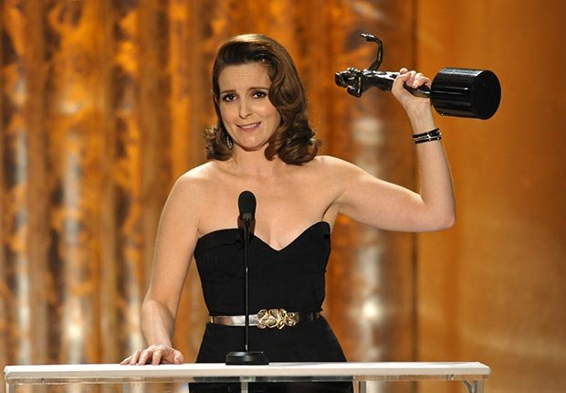Tina Fey accepts award at Screen Actors Guild Awards 2013