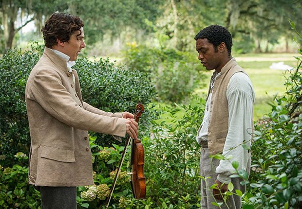 Benedict Cumberbatch and Chiwetel Ejiofor in 12 Years a Slave. Top 10 Movies of 2013.