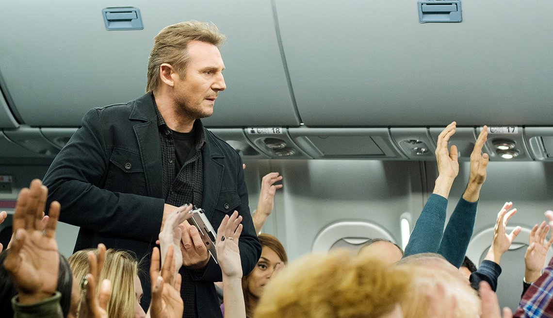 Liam Neeson, Non-Stop, air marshall, movie review