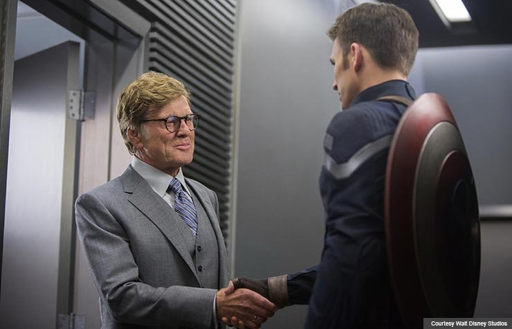 Robert Redford and Chris Evans star in Marvel's Captain America: The Winter Soldier