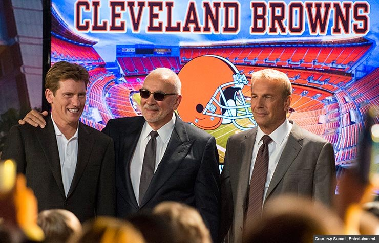 Denis Leary, Frank Langella and Kevin Costner star in Draft Day.