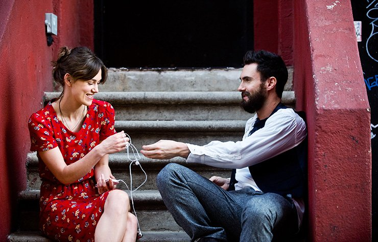 Keira Knightley and Adam Levine star in Begin Again.