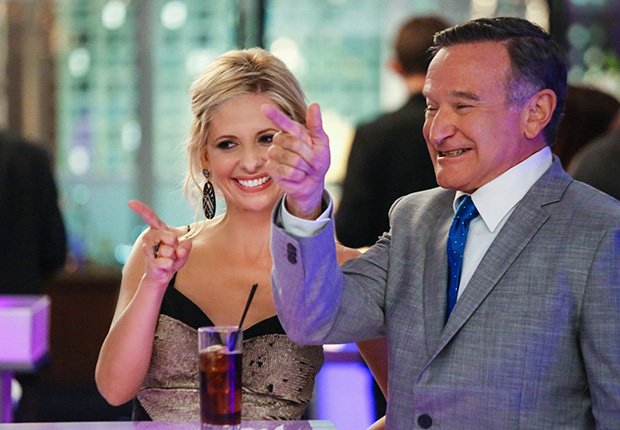 Robin Williams and Sarah Michelle Gellar star in The Crazy Ones, 2013-2014. Robin Williams: 10 Unforgettable Roles.