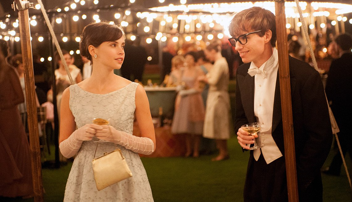 The Theory Of Everything, Felicity Jones, Eddie Redmayne, Stephen Hawking, Movie, 2014 Holiday Movie Preview