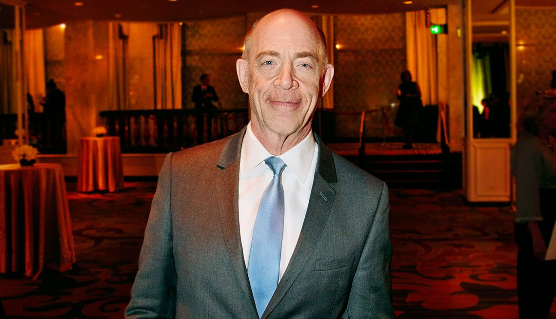 """Best Supporting Actor honoree J.K.Simmons, also an Oscar frontrunner for his role in Whiplash recalled that he was 43 when he got his first """"camera"""" acting job. """"The joy of what we get to do (as actors),"""" he said, """"is collaborate."""""""