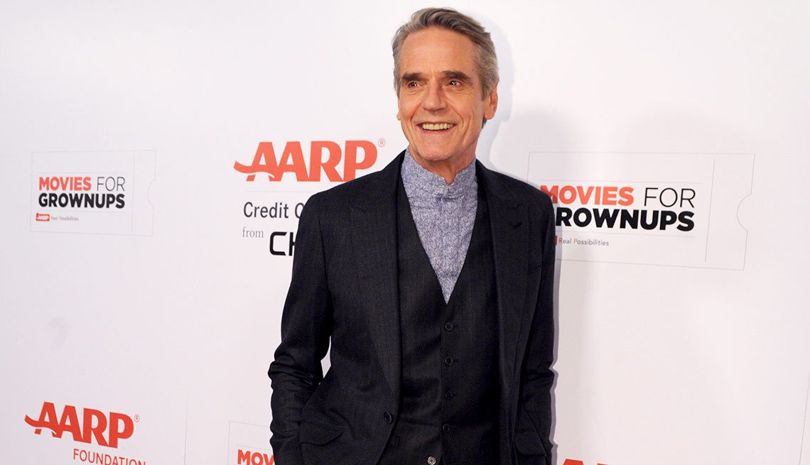 Jeremy Irons is seen at AARP the Magazine's