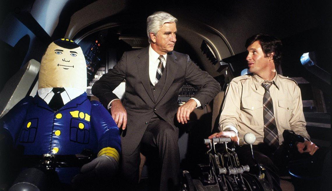 Leslie Nielsen and Robert Hays in 'Airplane!'