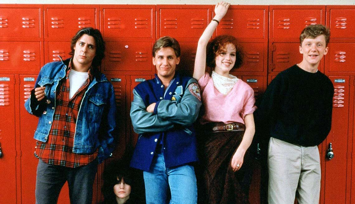 Judd Nelson, Ally Sheedy, Emilio Estevez, Molly Ringwald and Anthony Michael Hall in 'The Breakfast Club'