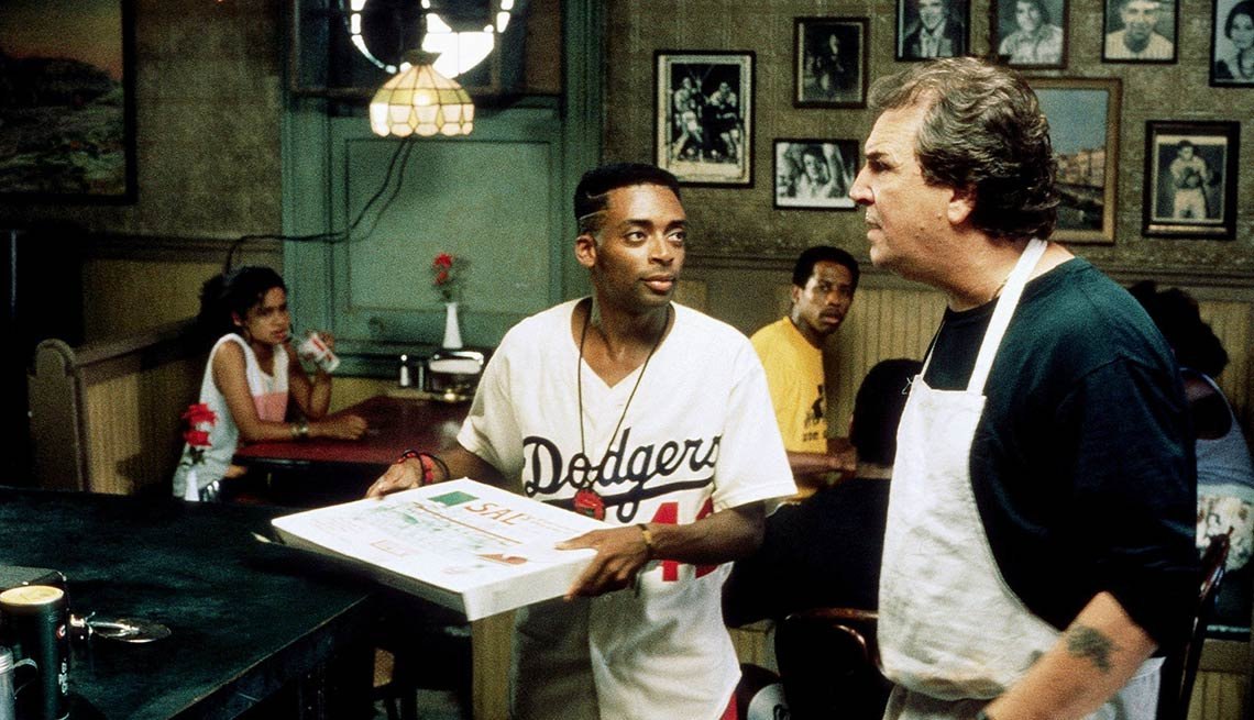 Spike Lee and Danny Aiello in 'Do the Right Thing'