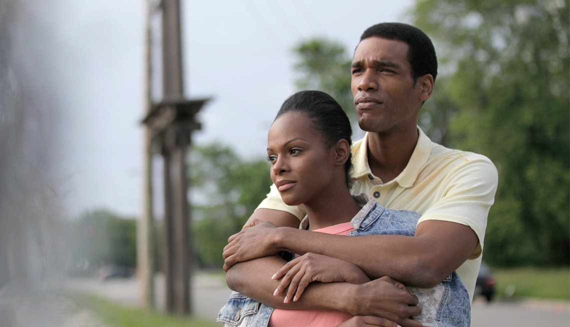 Tika Sumpter and Parker Sawyers as Barack and Michelle Obama in 'Southside With You'