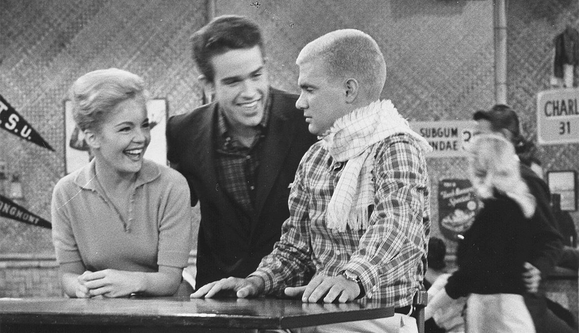 Tuesday Weld, Warren Beatty and Dwayne Hickman in 'The Many Loves of Dobie Gillis'