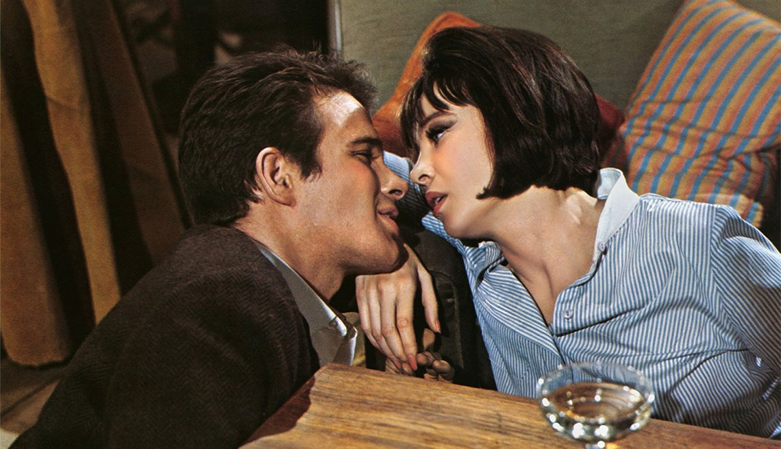 Warren Beatty and Leslie Caron in 'Promise Her Anything'
