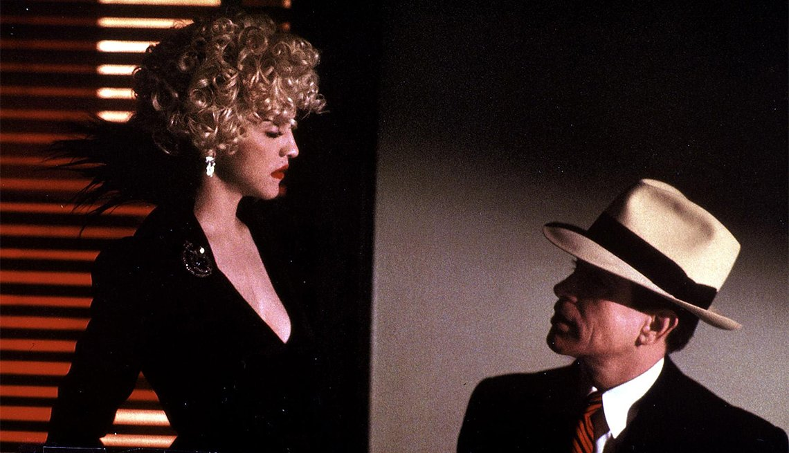 Madonna and Warren Beatty in 'Dick Tracy'