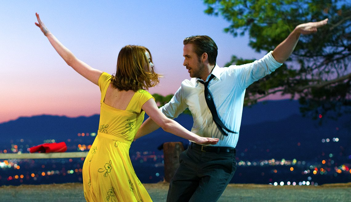 Emmas Stone and Ryan Gosling in 'La La Land'