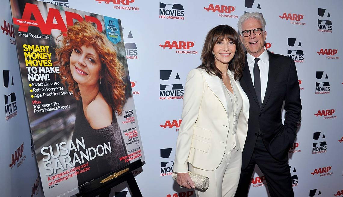 2014 AARP's Movies for GrownUps Gala, Mary Steenburgen and Ted Danson