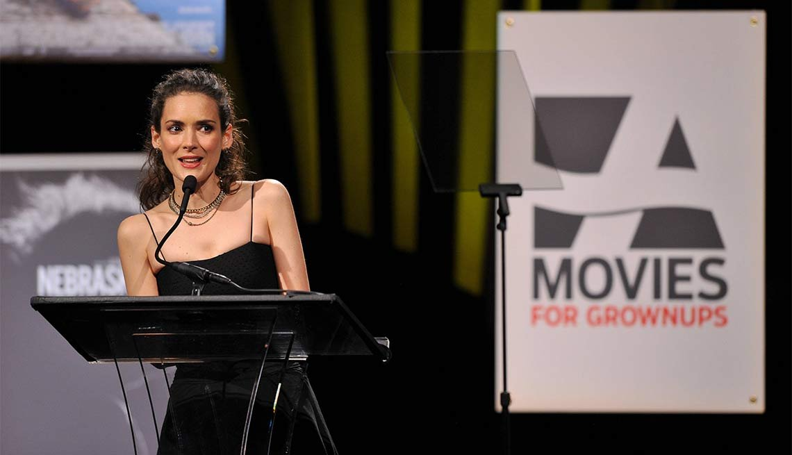 2014 AARP's Movies for GrownUps Gala, Winona Ryder