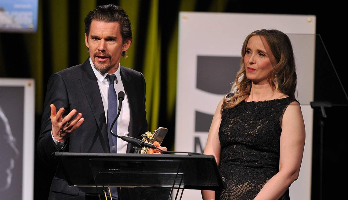 2014 AARP's Movies for GrownUps Gala, Ethan Hawke and Julie Delpy