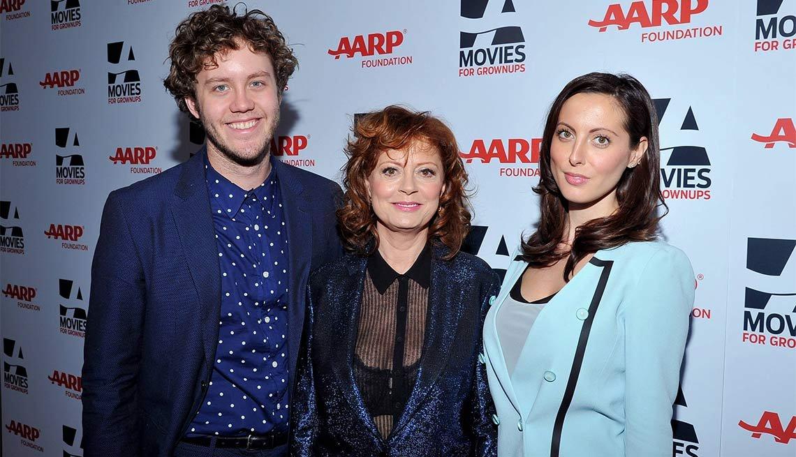 2014 AARP's Movies for GrownUps Gala, Jack Henry Robbins, Susan Sarandon and Eva Amurri Martino