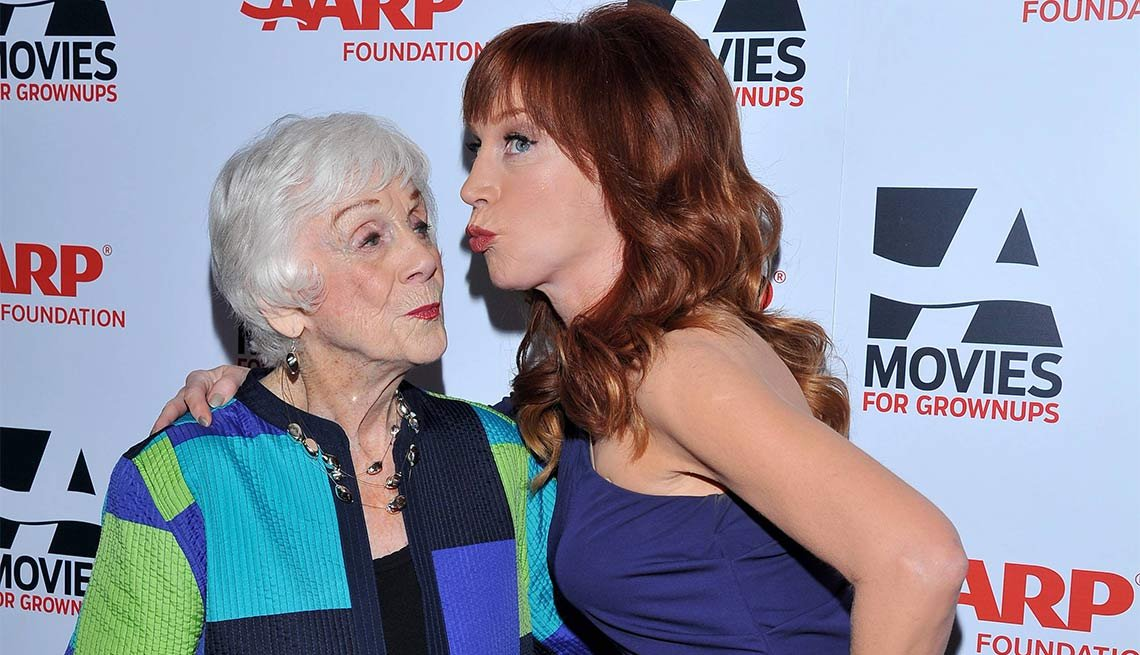 2014 AARP's Movies for GrownUps Gala, Kathy Griffin and mother Maggie