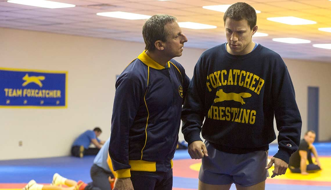 Steve Carrell and Channing Tatum Star in Foxcatcher.
