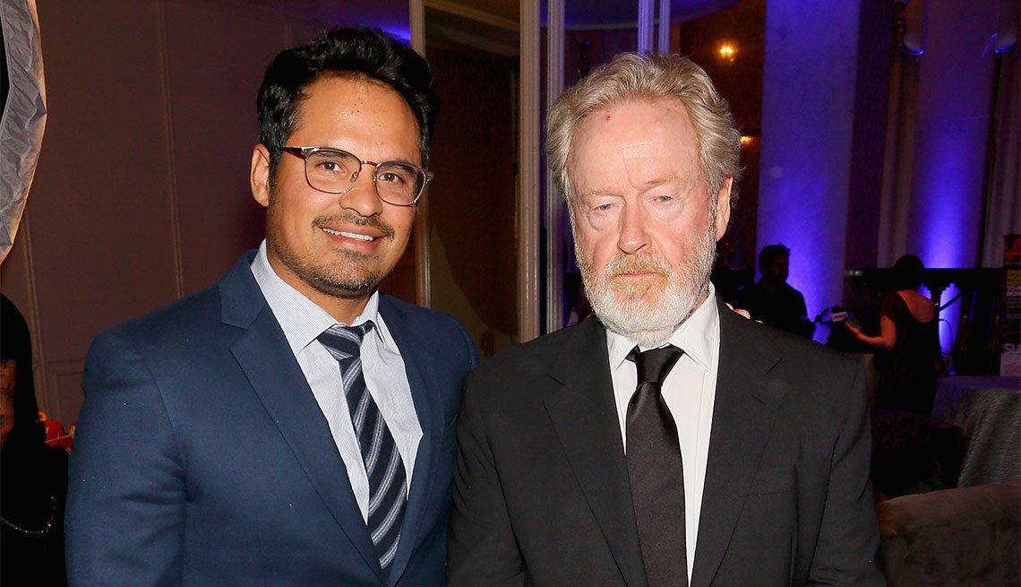 Michael Pena and Director Ridley Scott attend the 15th annual movies for grownup awards