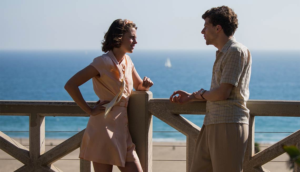 Kristen Stewart and Jesse Eisenberg in 'Cafe Society'