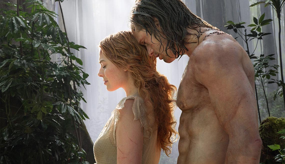 Margot Robbie and Alexander Skarsgard in 'The Legend of Tarzan'