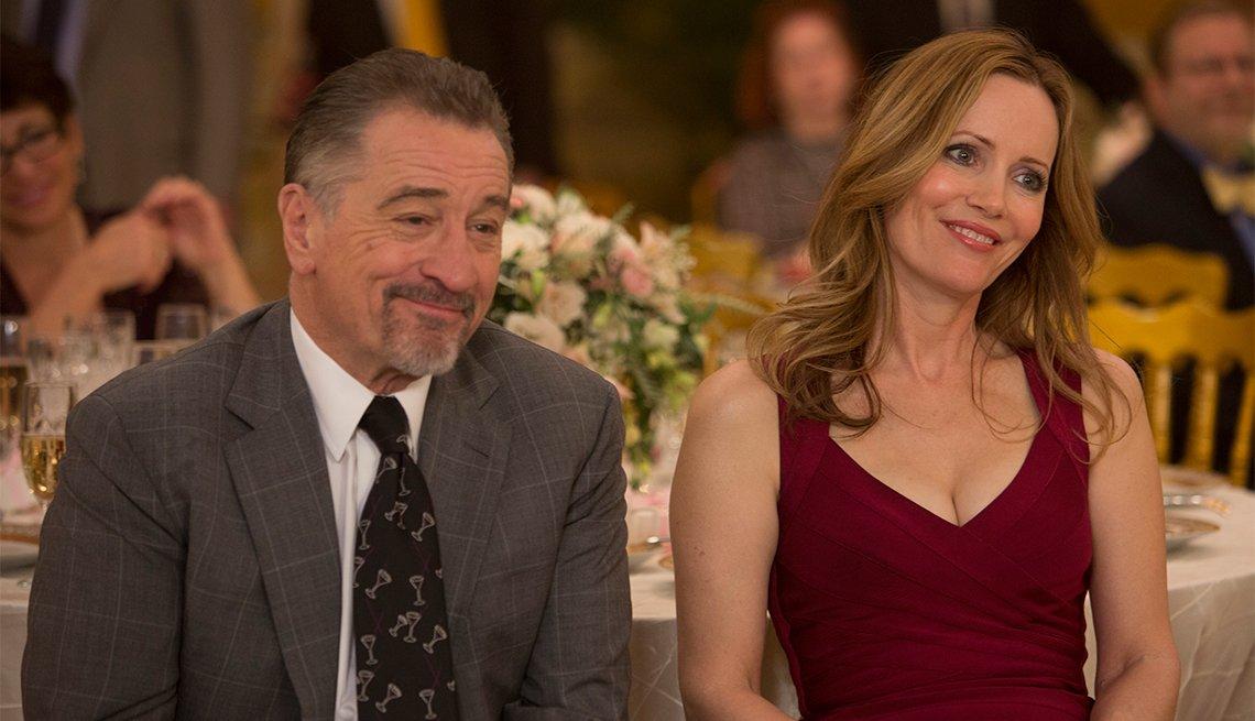 Robert De Niro and Leslie Mann in 'The Comedian'