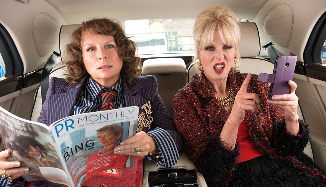 Jennifer Saunders as 'Edina' and Joanna Lumley as 'Patsy' in the film ABSOLUTELY FABULOUS: THE MOVIE