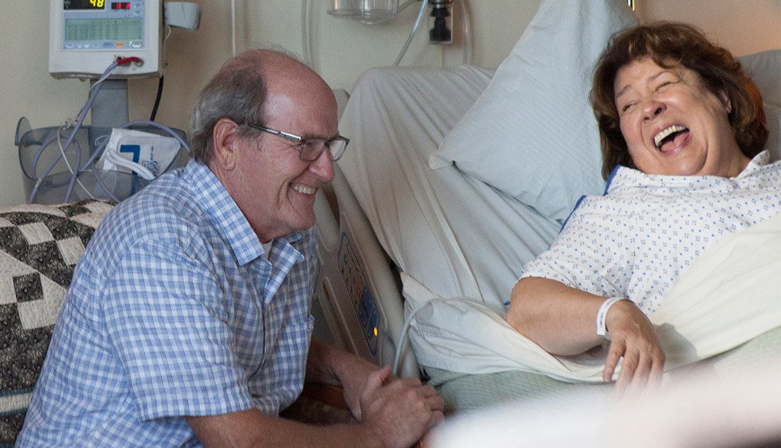 Richard Jenkins and Margo Martindale in 'The Hollars'