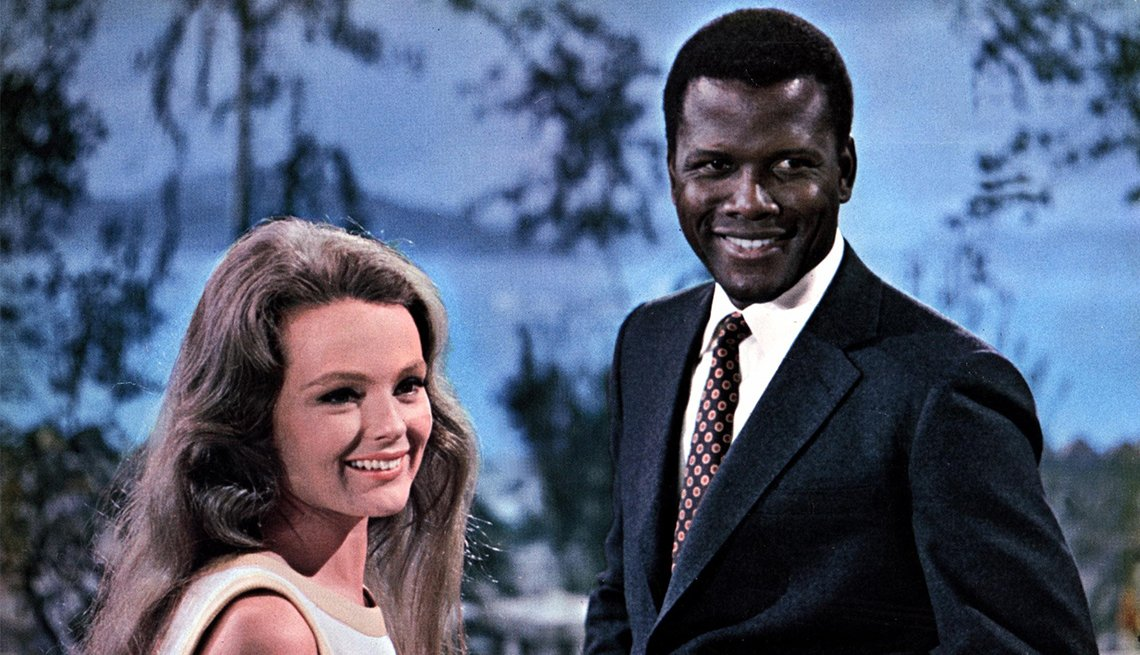 Katharine Houghton and Sidney Poitier in 'Guess Who's Coming to Dinner'