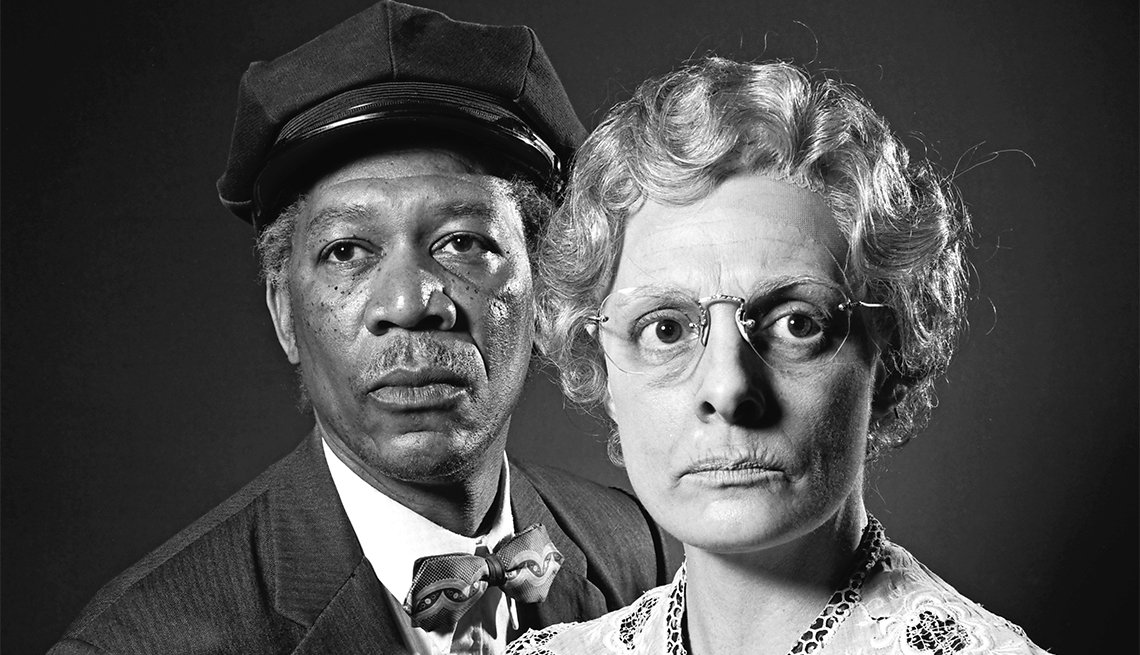 Morgan Freeman and Dana Ivey in off-Broadway production of 'Driving Miss Daisy'