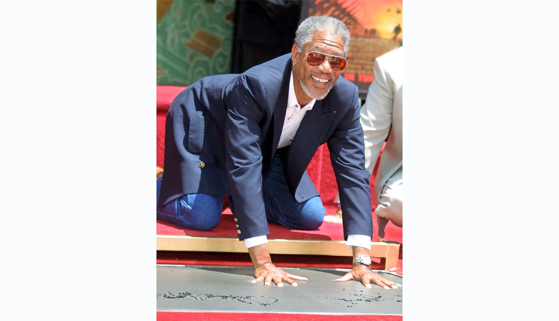 Morgan Freeman at Grauman's Chinese Theatre in 2011