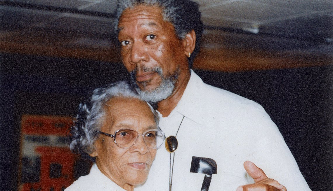 Morgan Freeman and his mother