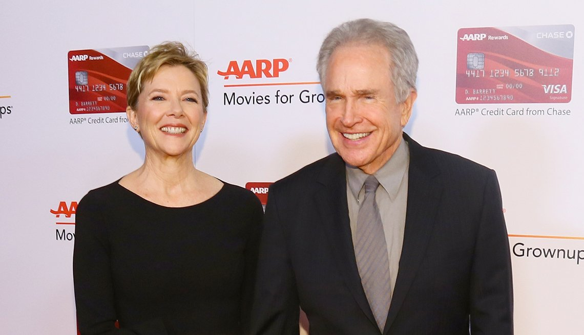 Annette Bening and Warren Beatty on the red carpet