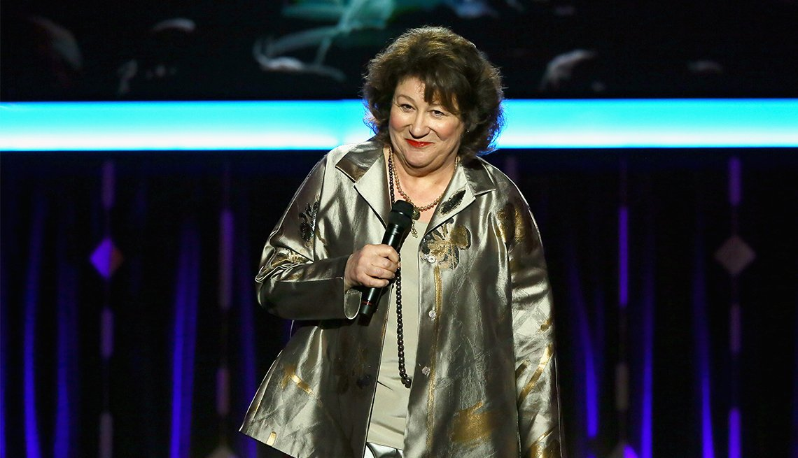 Host Margo Martindale speaks onstage at the 16th Annual AARP The Magazine's Movies For Grownups Awards