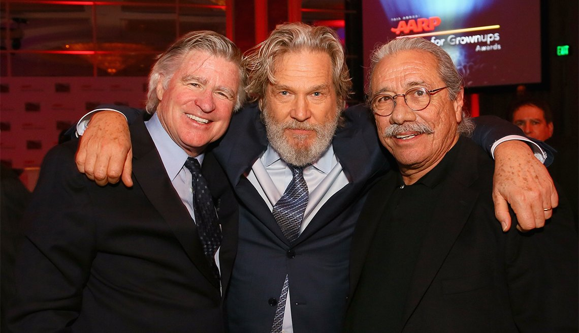 Actors Treat Williams, Jeff Bridges and Edward James Olmos attend the 16th Annual AARP The Magazine's Movies For Grownups Awards