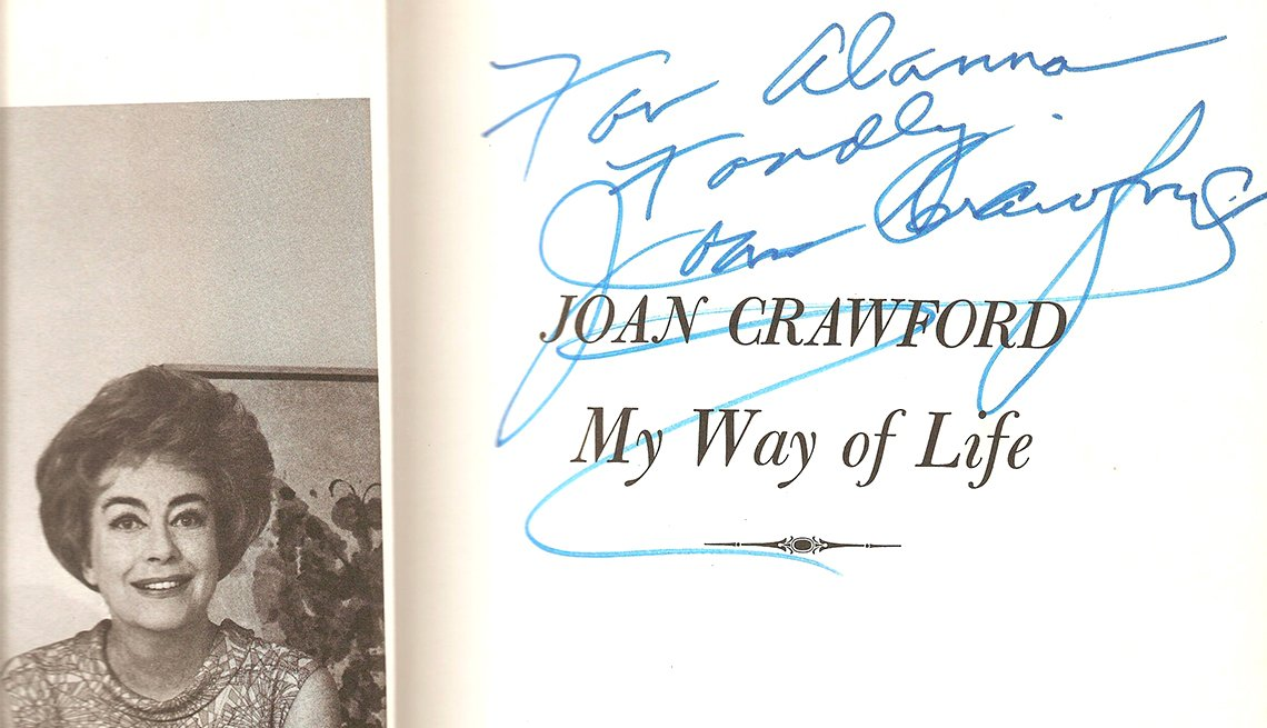 Autographed copy of 'My Way of Life' belonging to Alanna Nash