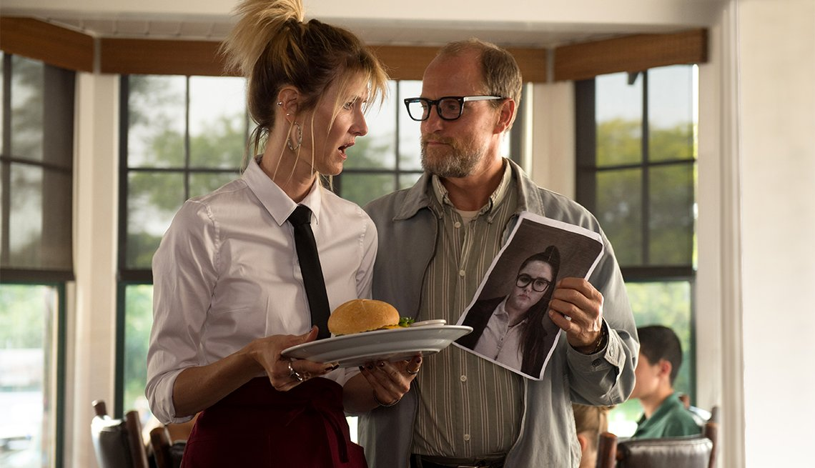 Laura Dern and Woody Harrelson in 'Wilson'