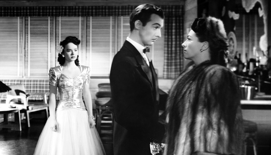 L-R, Anne Blyth, Zachary Scott and Joan Crawford in 'Mildred Pierce'