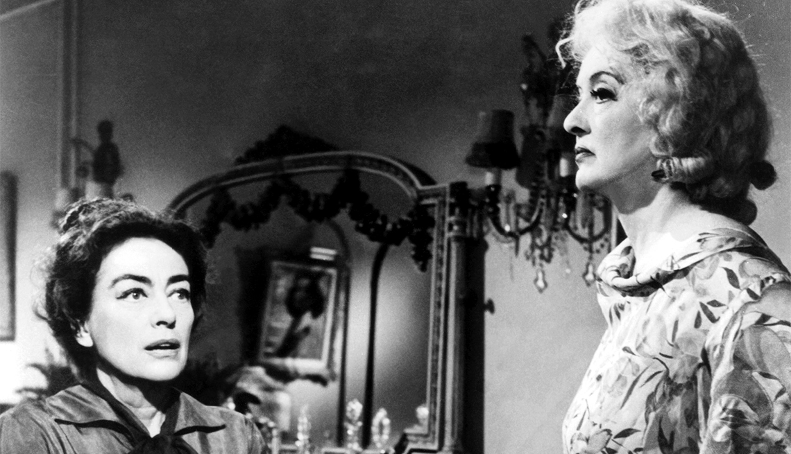 Joan Crawford and Bette Davis in 'Whatever Happened to Baby Jane?