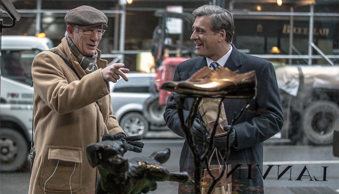 Richard Gere and Lior Ashkenazi in 'Norman: The Moderate Rise and Tragic Fall of a New York Fixer'