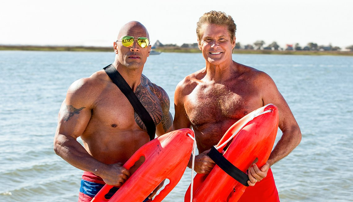 Dwayne Johnson and David Hasselhoff 'Baywatch'